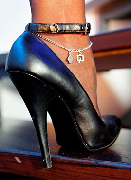 Queen Of Spades Anklet Mywickedjewelry Com